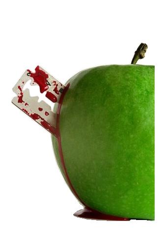 tube pomme lame