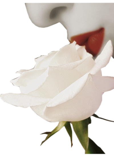 tube bouche fleur