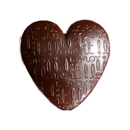 tube coeur chocolat miam