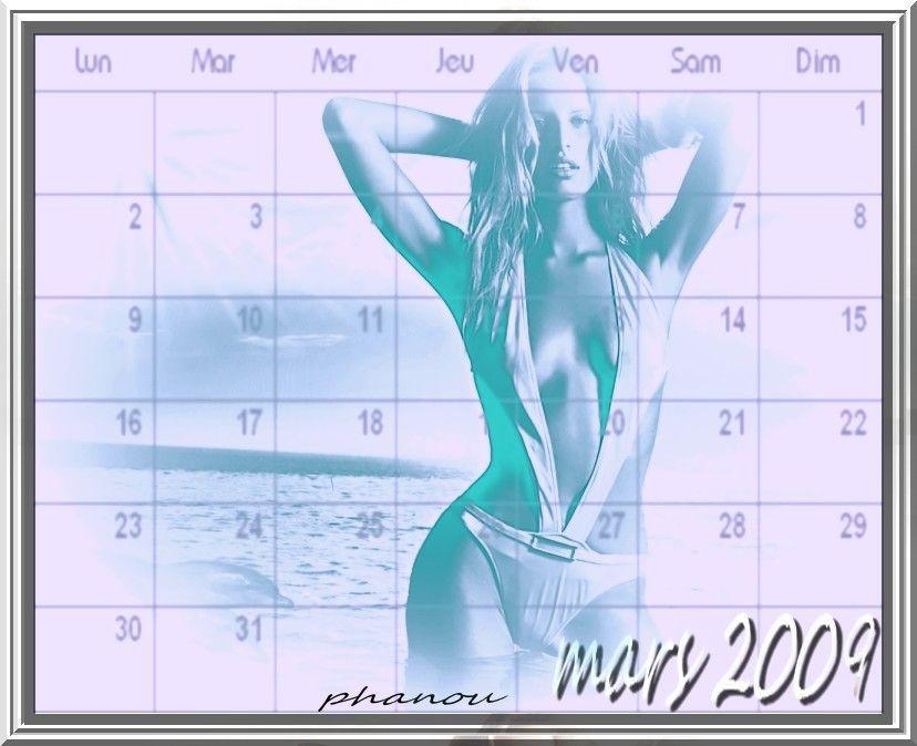 créa calendrier mois de mars2009