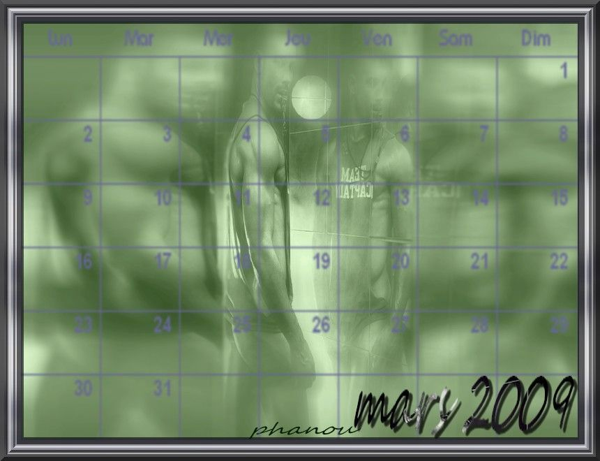 créa calendrier mois de mars